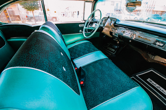 57 Chevy Belair for rent interior